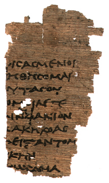 A little bit of Menander, written on papyrus from Egypt. Who was Menander?