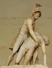 Menelaus carrying Patroclos' body (Roman copy, now in Florence)