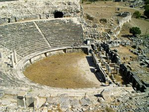 A big Greek theater at Miletus