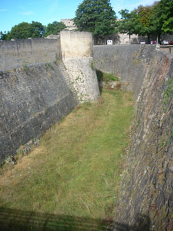 The moat around Caen castle