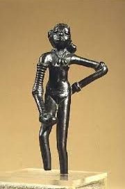 Dancing woman from Mohenjo Daro, in what is now Pakistan: history of India