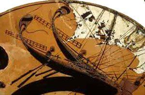 Sailors rowing trading ships (Athens ca. 550 BC)