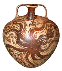 Here is a Minoan octopus vase.