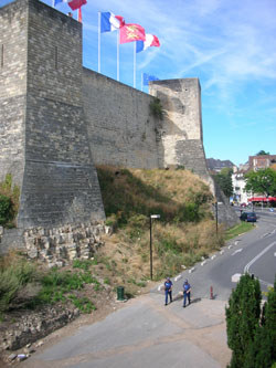 Outer walls of Caen castle, Normandy, France