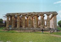 Doric temple at Paestum, Italy