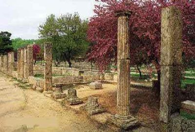 The palaestra at Olympia, Elis, Greece (about 250 BC)