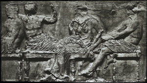 Parthenon frieze - seated goddesses