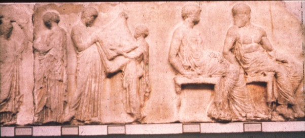 A scene from the Parthenon frieze