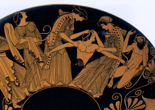 Agave and Pentheus on a red-figure vase