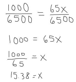 Solving a percentage problem