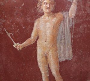 Perseus holds up Medusa's head(Stabiae, ca. 50 AD) Photo by Wikimedia Commons user Luiclemens