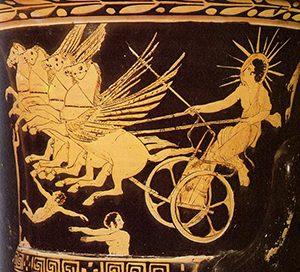 Phaethon drives Helios' chariot