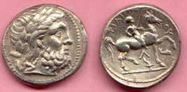 Philip of Macedon (on a coin)