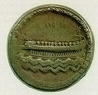 Phoenician ship on a coin