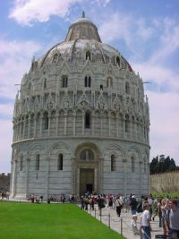 The baptistery of Pisa, Italy