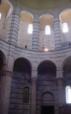 The inside of the baptistery, where people were baptized
