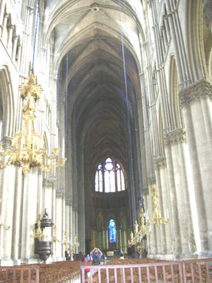Reims cathedral's nave