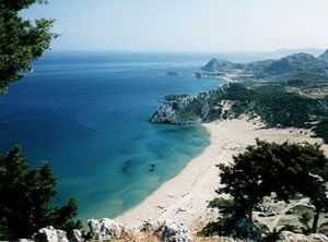 The island of Rhodes