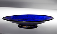 Roman glass bowl, 200s AD, buried in Japan in the 400s AD