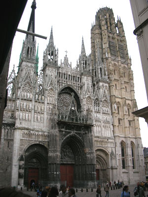 Rouen cathedral (begun 1202 AD)