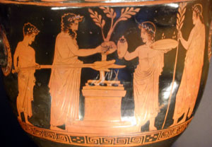 Athenian red-figure vase, 430-420 BC (now in the Louvre)