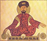 Saladin: a West Asian man sitting crosslegged