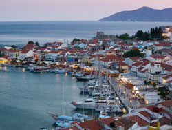 The harbor of the island of Samos