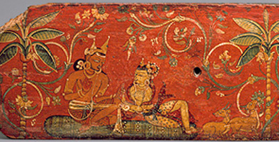 Dushyanta gives the ring to Shakuntala (Nepal, ca. 1050 AD)(Metropolitan Museum, New York)