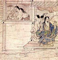 Excited women (Shigisan Engi Emaki,ca. 1100 AD)