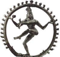 A dancing man inside a wheel: Shiva
