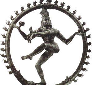 A dancing man inside a wheel: Shiva