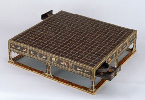 Go boardstored at Shosoin Repositoryin honor of Emperor Shomu, possibly by his widow