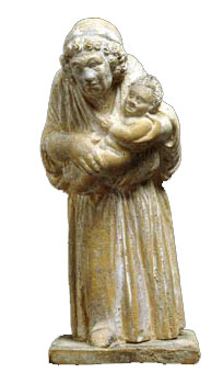 An enslaved nanny holds a baby