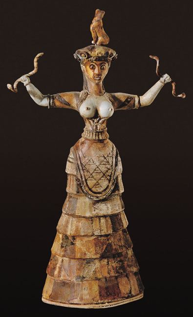 Minoan snake goddess from Knossos