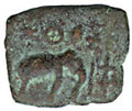 South Indian coin (ca. 1100 AD)