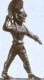 Spartan hoplite soldier