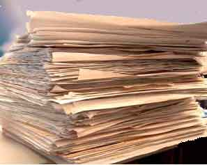 A stack of sheets of paper