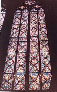 Stained glass window in the Sainte Chapelle