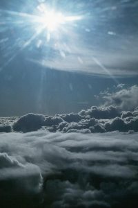 the sun shining on the clouds - the god Apollo