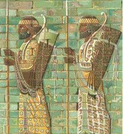 Iranian archers made out of glazed bricks