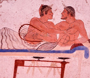 From the Tomb of the Diver, Paestum, Italy (ca. 470 BC)