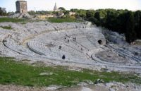 The Greek theater at Syracuse in Sicily