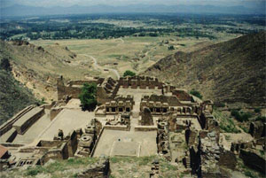 Takht-i Bahi, a Buddhist monastery in eastern Pakistan (about 50 AD)