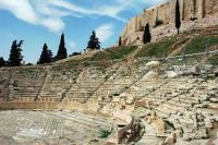 Theater of Dionysos on the Acropolis below the Parthenon in Athens