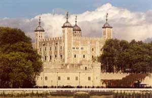 The White Tower of the Tower of London (about 1100 AD)