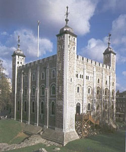 White Tower of the Tower of London (built in the 1060s AD)