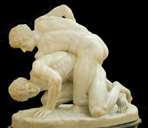 Greek Wrestlers (ca. 200s BC, now in Uffizi, Florence)