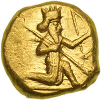Gold coin of Xerxes (or another Persian king)