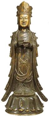 Bosatsu bronze statue(600s AD, Houryuuji Temple)