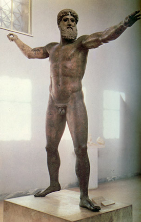 Bronze statue of Zeus(?) from Artemisium (ca. 470 BC)